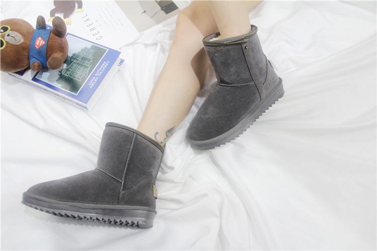Lzzf 2018 Rússia Peluche Pelucia Sapatos de Inverno Mulher Senhoras Mulheres Ankle Boots Mulheres Botas de Neve de Pelúcia Buty Botas Mujer Bottines