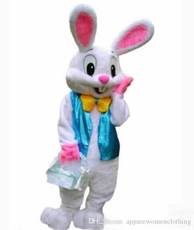 2018 Factory direct sale PROFESSIONAL EASTER BUNNY MASCOT COSTUME Bugs Rabbit Hare Adult Fancy Dress Cartoon Suit nji