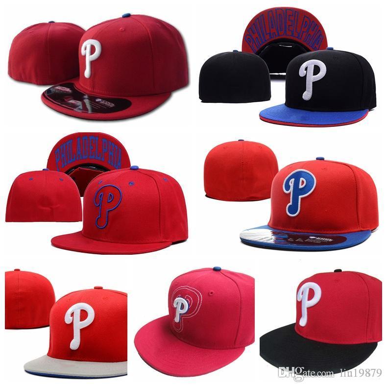 design de qualité c8f6d 3ec0e 2019 brand new fashion summer style Phillies P letter Baseball caps men  women hiphop Casquette Fitted Hats