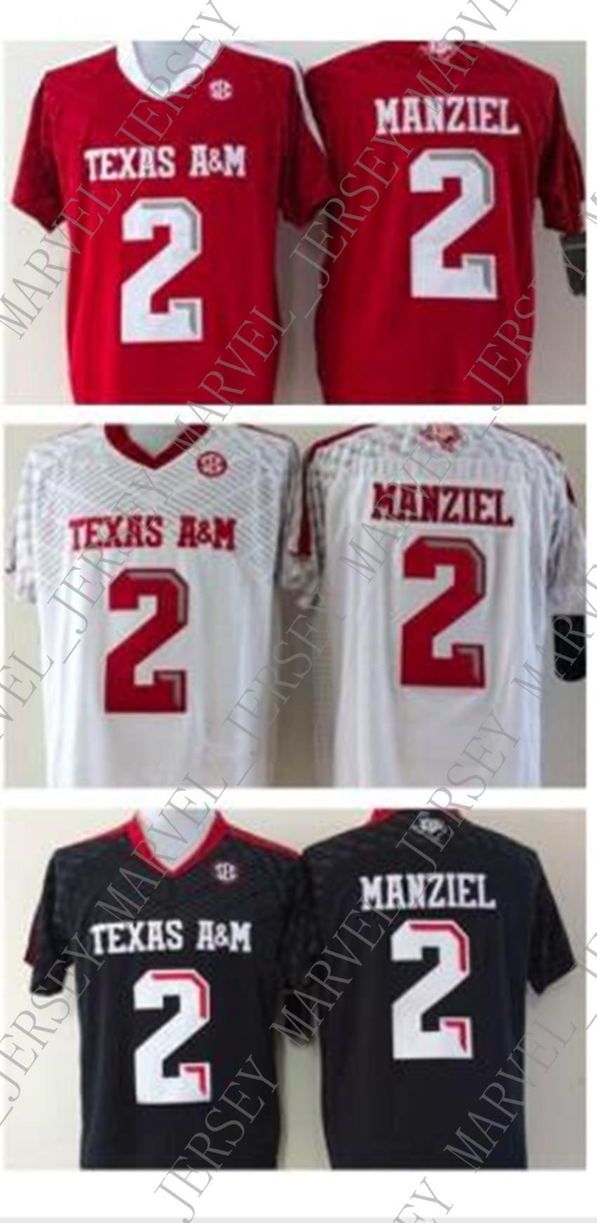 innovative design ab355 dd2c9 Cheap wholesale Johnny Manziel Texas A&M Jersey. Black, Red, or White!  Sizes S-3XL Stitched high quality