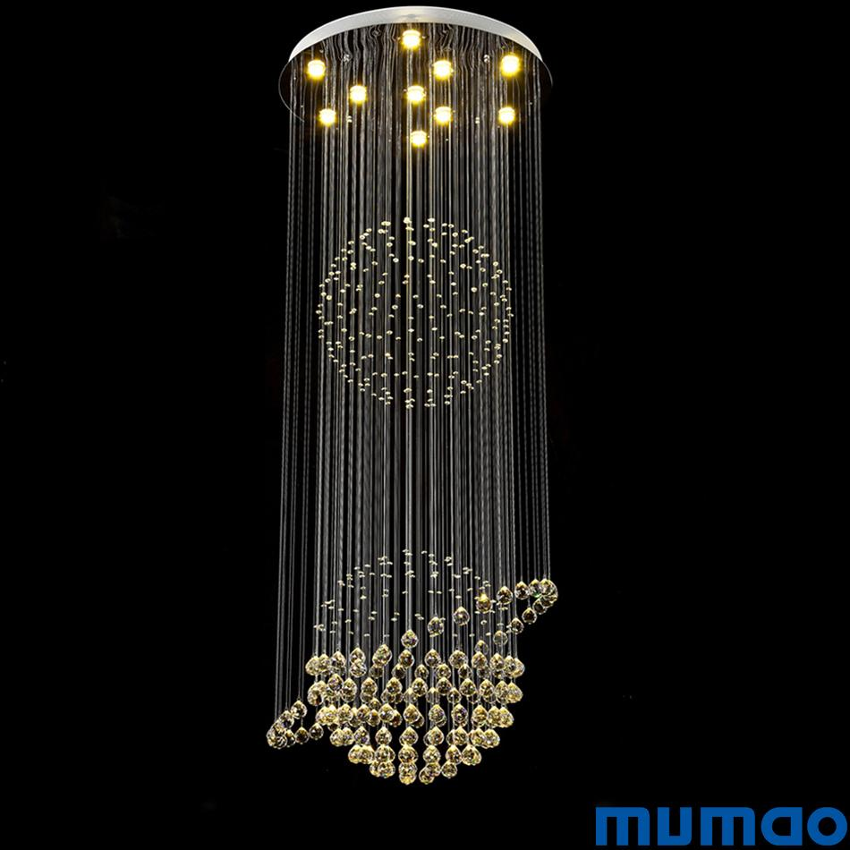 Led crystal chandeliers ceiling pendant lights lamps round luminaria de teto for aisle stair hallway lights plafon abajur lighting fixtures oil rubbed