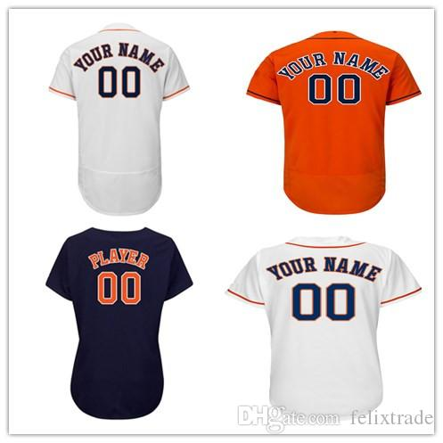 new concept a25e7 43b10 Custom Men's women youth Houston Jersey Any Your name and your number Alex  Bregman George Springer Jose Altuve Jerseys High-qualit Top