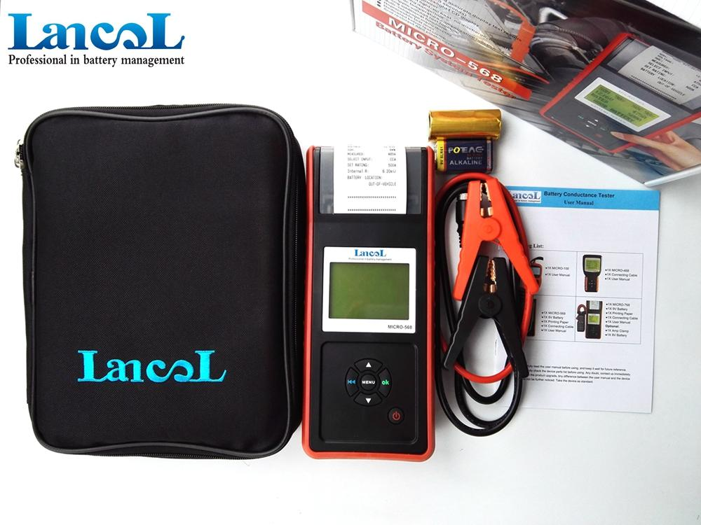 Lancol MICRO-568 12V Car Battery Load Tester With Printer Digital  Automotive Battery Tester SOC SOH CCA IR CCA100-2000