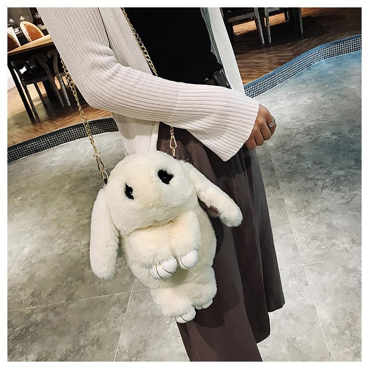 2018 Cute Backpack For Teen Kids Mini-Back Pack High quality soft plush Women Backpacks Sweet School bag Cute Chain Shoulder bag