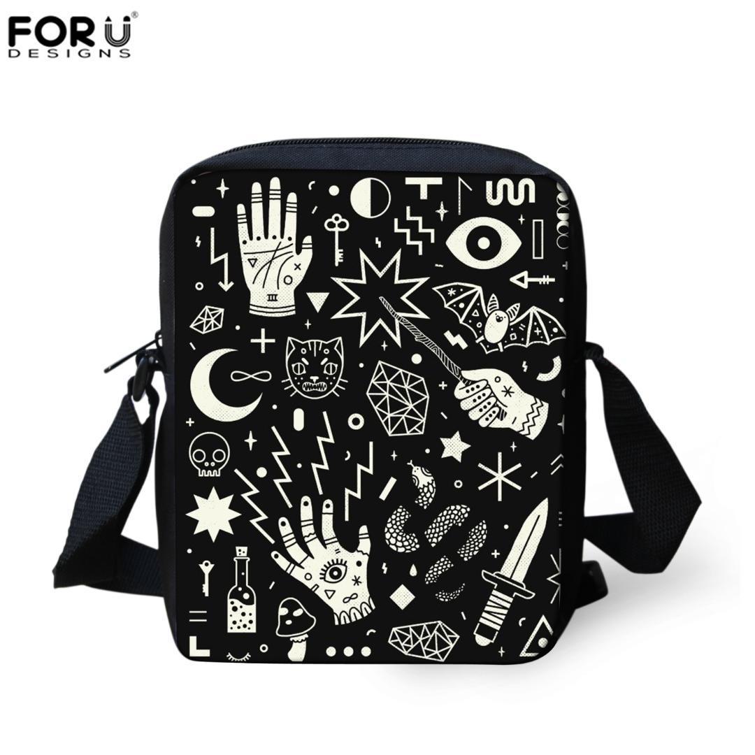 26872233b3b2f5 FORUDESIGNS SpellBound Witchcraft Ouija Crafty Pattern Crosssbody Messenger  Bags Women Hand Bag Mini Shopping Shoulder Bag New Designer Purses Satchel  Bags ...