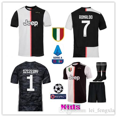competitive price b66d8 e307d 19 20 Juventus RONALDO Soccer Jerseys DYBALA D.COSTA Home Goalkeeper  Football Shirts MARCHISIO MANDZUKIC Kids Football Uniforms Jersey Kits