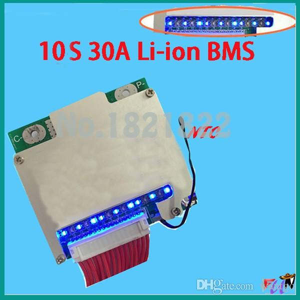 10S 30A bms new Li-ion 42V 30A BMS PCM with balance for electric bike  electric car 30a bms freeshipping