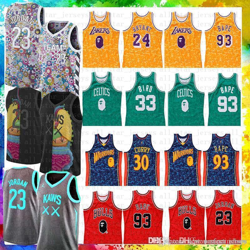 6e98d414886e9d 2019 2019 NEW Flower Team Kaws 23 Michael JD Kobe 24 Bryant 93 ...