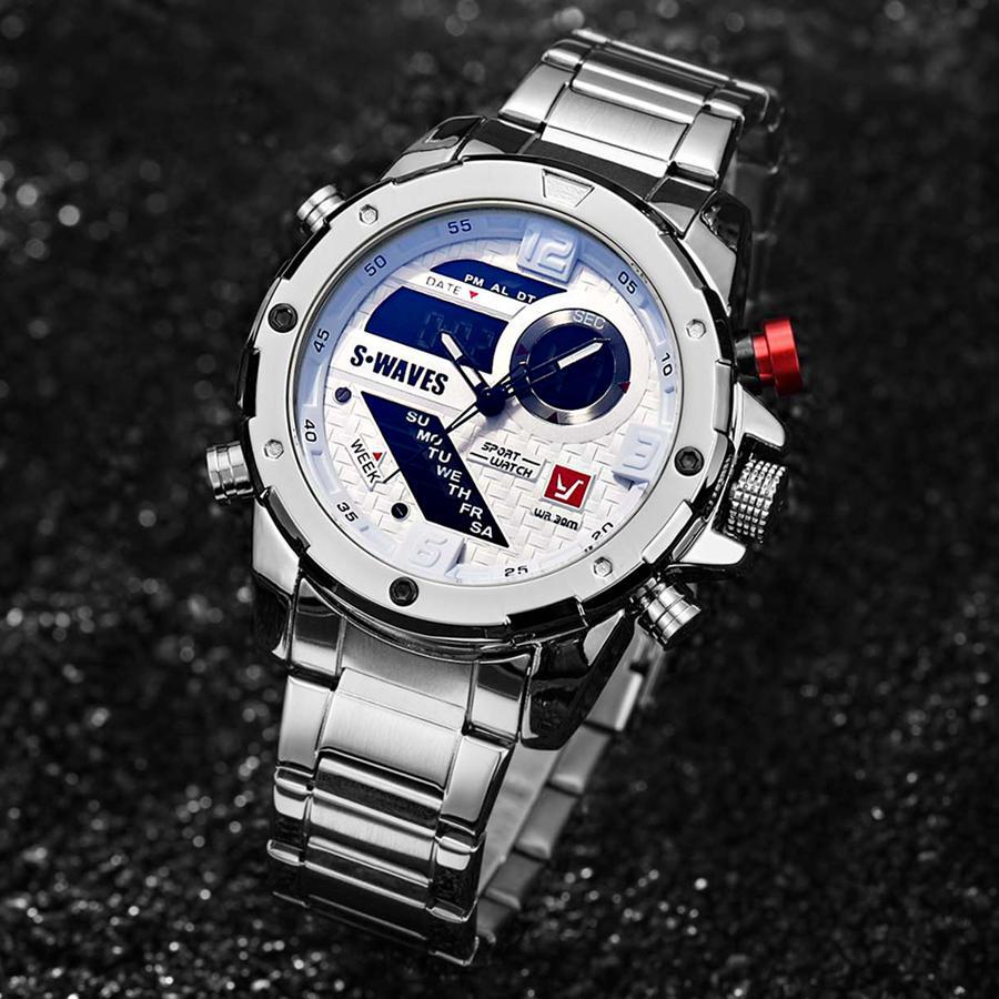 ee381e90d85 Compre Relojes Para Hombre 2019 Nueva Marca Top Quarzt LED Impermeable  Multifunción De Acero Inoxidable Reloj De Pulsera Digital Masculino Relogio  Masculino ...