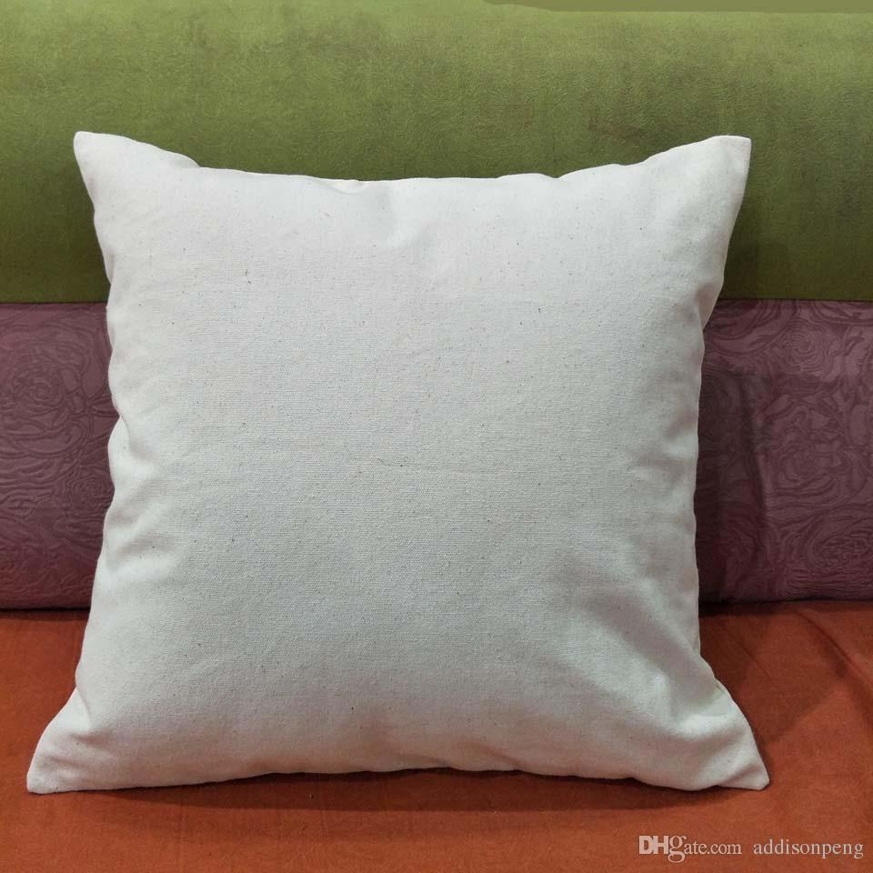 12 Oz Natural Canvas Pillow Case 18x18 Plain Raw Cotton