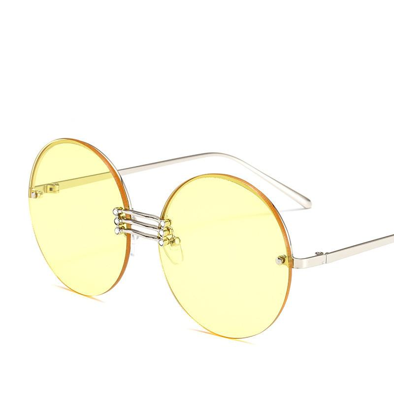 9a2e753957d 2019 Hot Popular Sunglasses Fashion Designer Half Frame Trendy Round  Glasses High Quality UV Protection Luxury Sunglasses Vintage Eyewear  Prescription ...