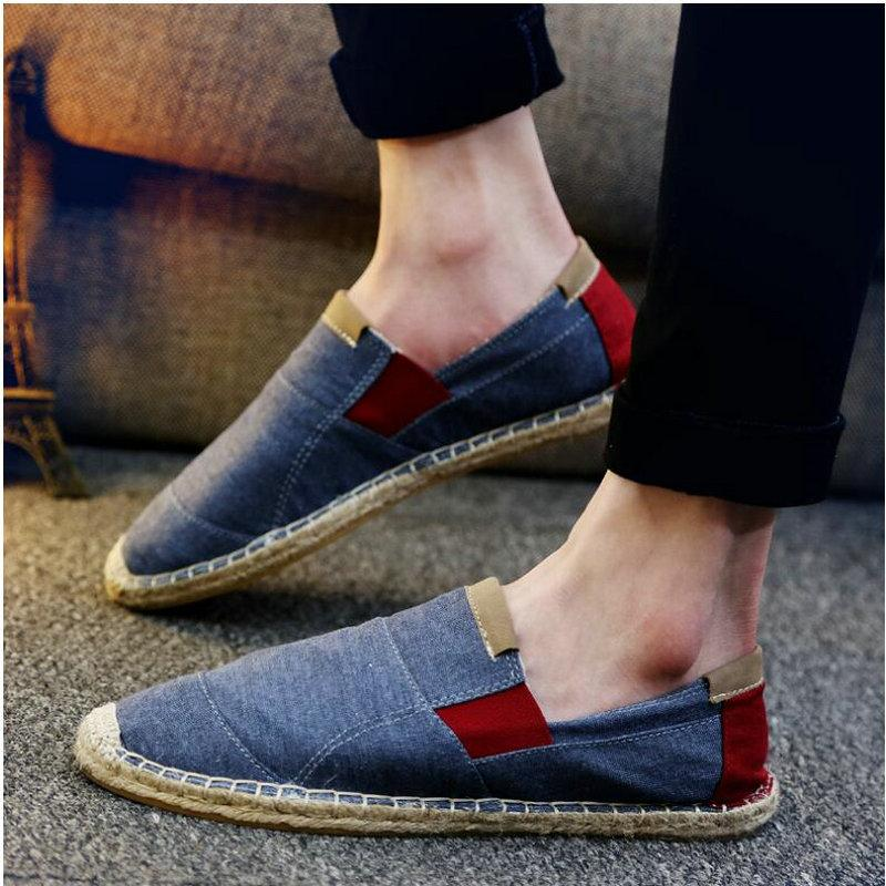 2018 Summer Fashion Male Canvas Shoes Fisherman shoes Ethnic Style Men Loafers Linen Korea Flat driving boat LF-32