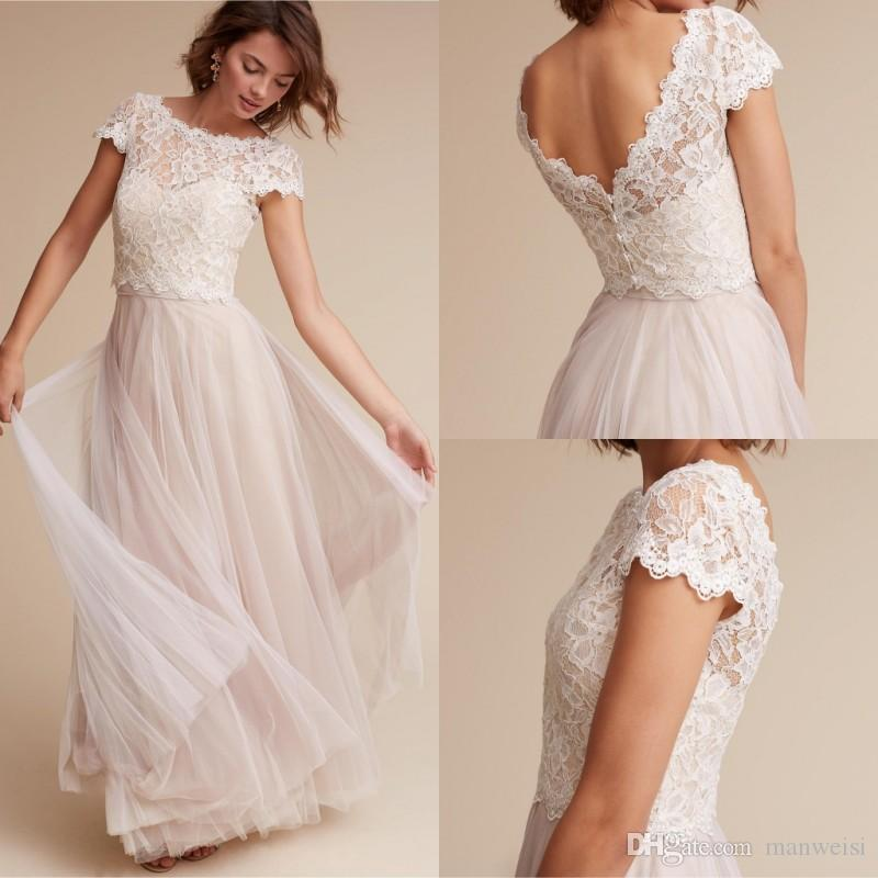 dd4dce72d3edc 2019 BHLDN Designer Bridal Jackets Cheap Short Sleeve Lace Bridal Wraps Coat  Ivory Wedding Capes Wrap Bolero Jacket Jewel Neck Wedding Dress From  Manweisi