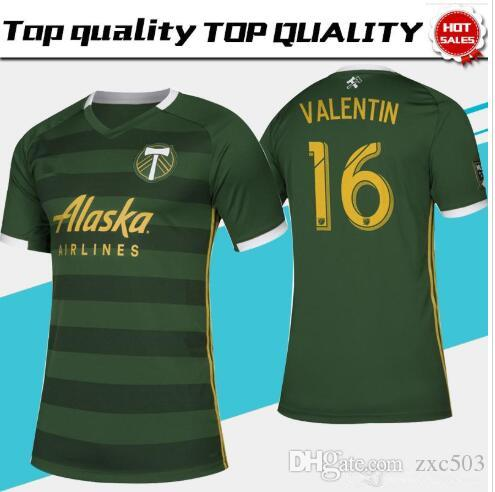 online store 6a8f8 21a0e MLS 2019 PORTLAND TIMBERS home green Soccer Jerseys PORTLAND TIMBERS Soccer  Shirt Customized #10 BLANCO # 8 VALERI men football uniform