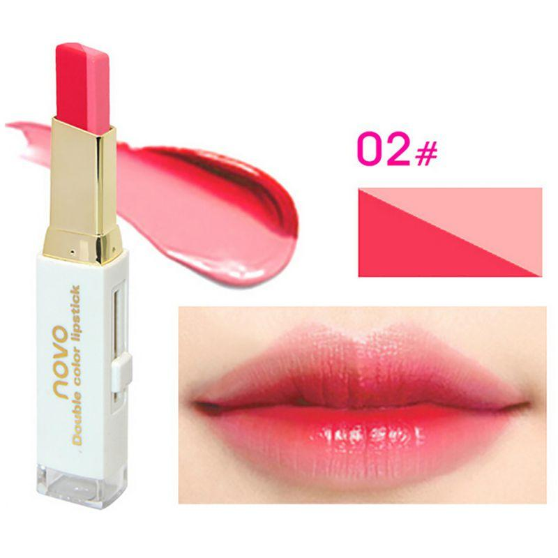 Makeup Double Color Gradient Long Lasting Waterproof Lipstick Gloss Makeup Lips Cosmetic