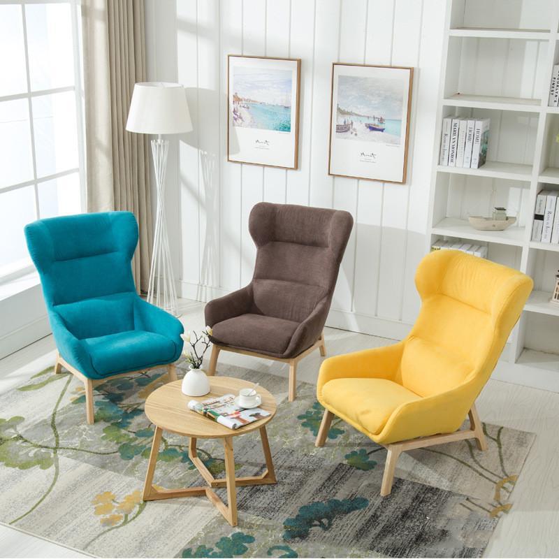 Nordic simple chaise canapé petit appartement meubles de salon simple tissu  moderne petit canapé fashion casual tiger chaise