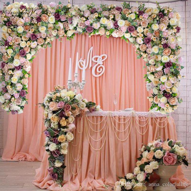 Wall Decoration Ideas Wedding: 2019 Customize DIY Wedding Backdrop Decor Artificial