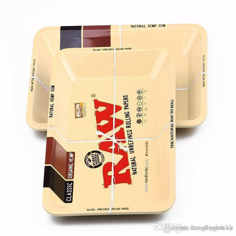 raw rolling trays big Size(340x280mm) tobacco Rolling Metal Tray Hand  Roller Tobacco Grinder Smoking Accessories Cigarette grinder Tray