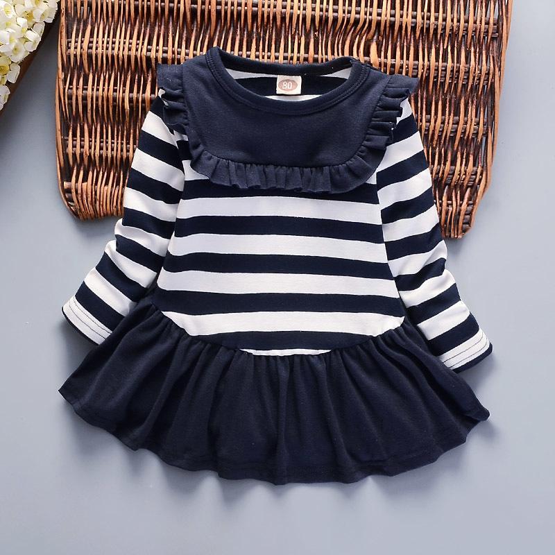 dd77605bff5a7 good quality 2019 girls dress spring autumn children cotton long sleeve  dresses girls kids cotton fashion clothing striped dresses