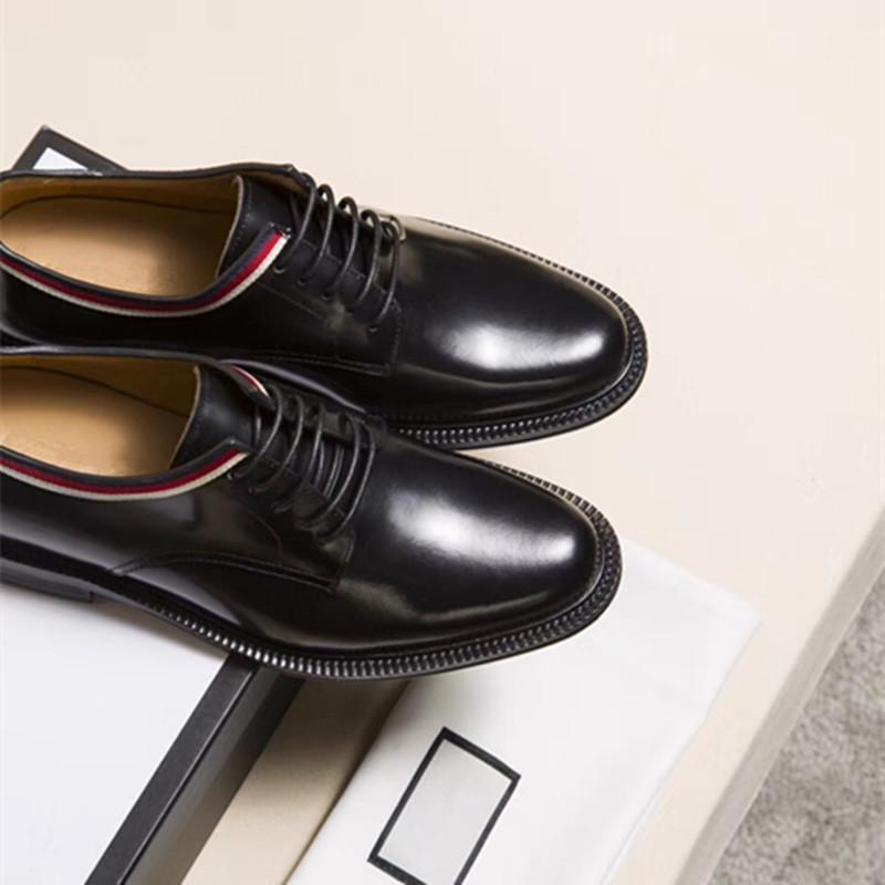 UK's latest luxury dress shoes smooth leather brand men's office business casual shoes size :38-45