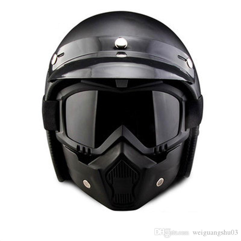 bf1674e0 Motorcycle Helmet Open Mask Retro Style Motorcycle Cruiser Travel  Helicopter Street Scooter Helmet Goggles Mask 610 Nolan Motorcycle Helmets  Novelty ...