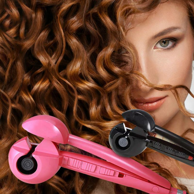 LCD Automatic Curling Machine Ceramic Pear Hair Perm Anti-scalding Does Not Hurt Hair Curls Artifact 2019