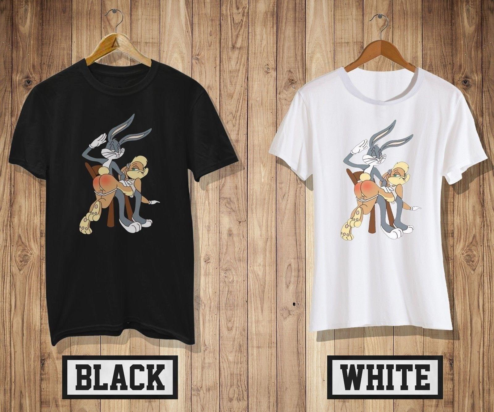 536ac7320 New Bugs Bunny And Lola T Shirt Mens Womens Black White Looney Tunes Shirt  2 Cool Casual Pride T Shirt Men Skull T Shirts Tea Shirt From Cls6688521