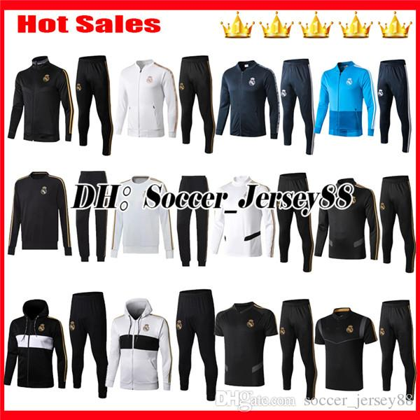 HAZARD 2019 2020 Real madrid Survetement Training suit tracksuit kits jacket soccer jerseys MARCELO BENZEMA MODRIC BALE 19 20 football shirt