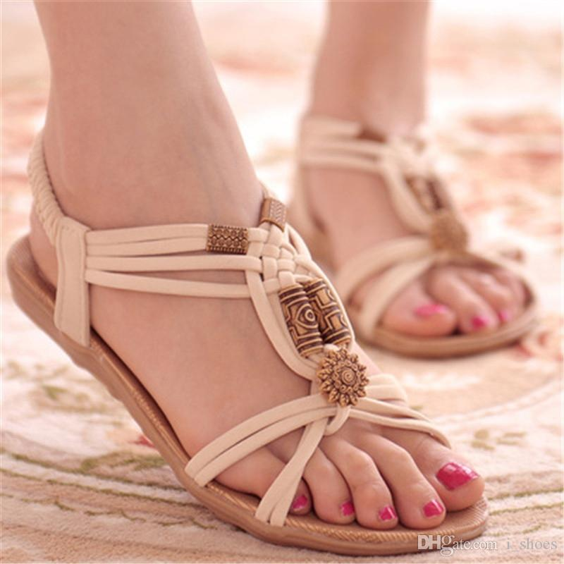 Fashion Women Shoes Sandals Flip Flops High Quality Flat Sandals Comfort Gladiator Sandalias Mujer 2018 Shoes Woman #10269