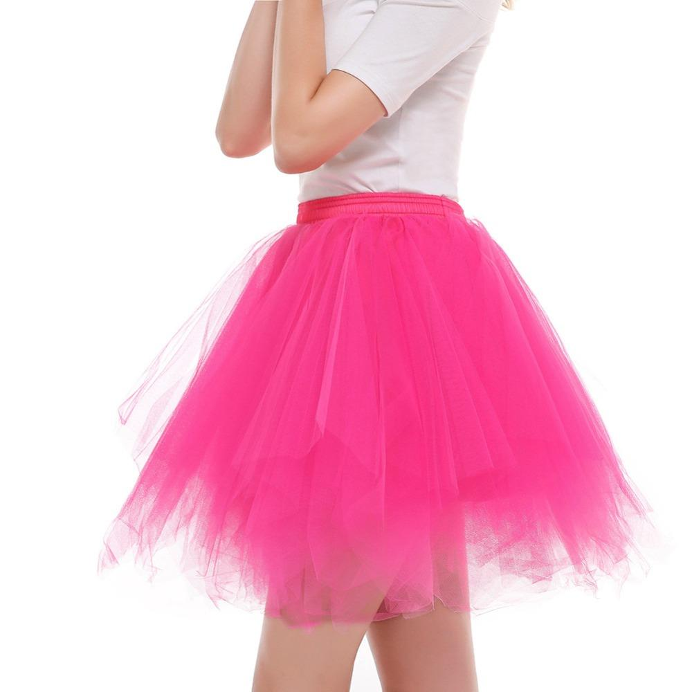 Womens High Quality Pleated Gauze Short Skirt Adult Tutu Dancing Skirt Ladies Candy Color Half-length Gauze Tutu Ball