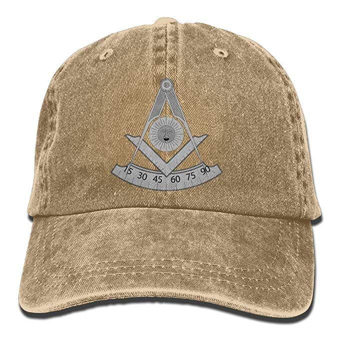 2019 New Wholesale Baseball Caps Masonic PastMaster Trend Printing Cowboy  Hat Fashion Baseball Cap for Men and Women Black