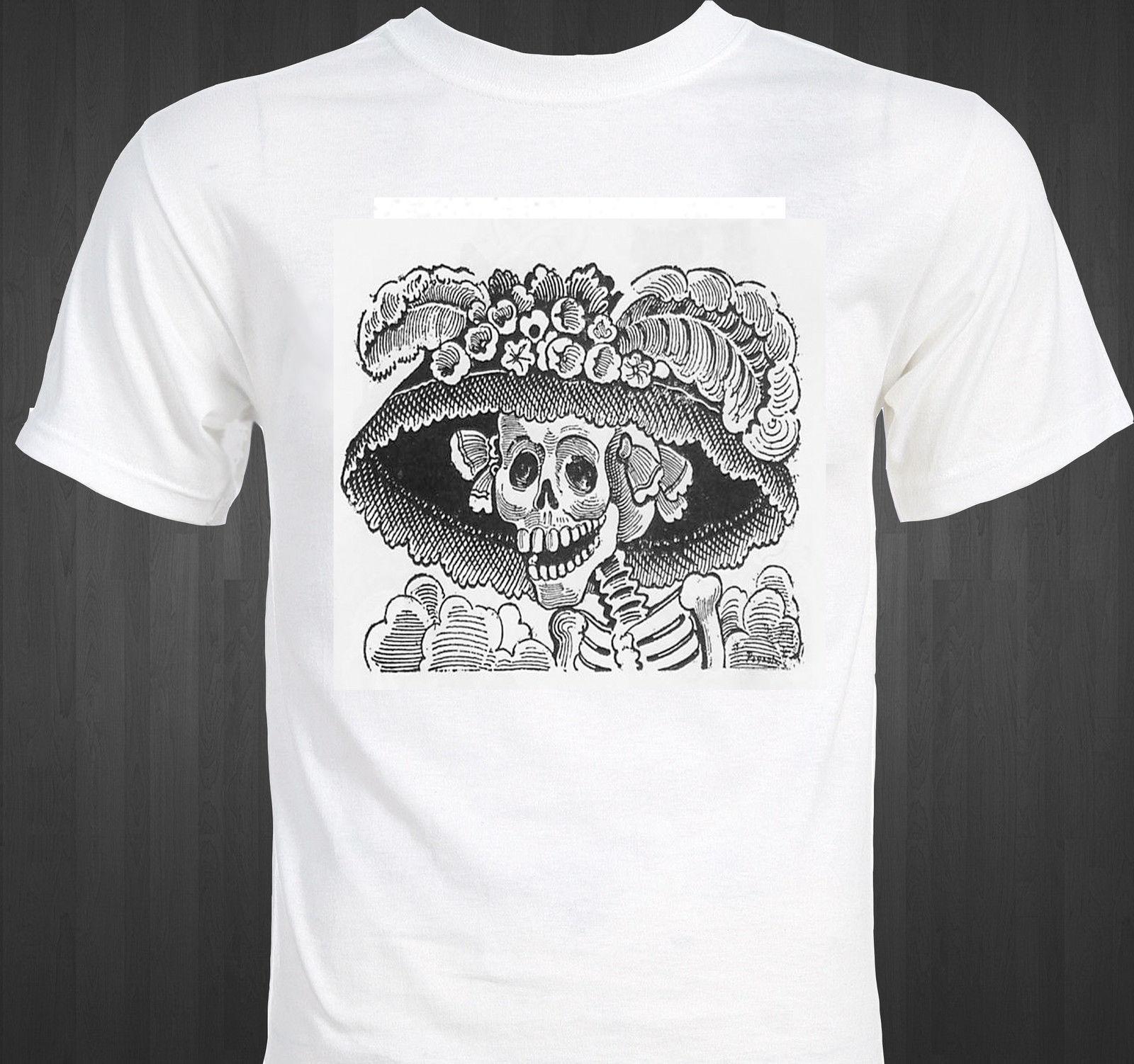 Esqueleto Posada Pride Nuevo La Guadalupe Camiseta Calavera Jose Cool Casual Raro Unisex Mexicano Catrina Hombre H2WEDI9