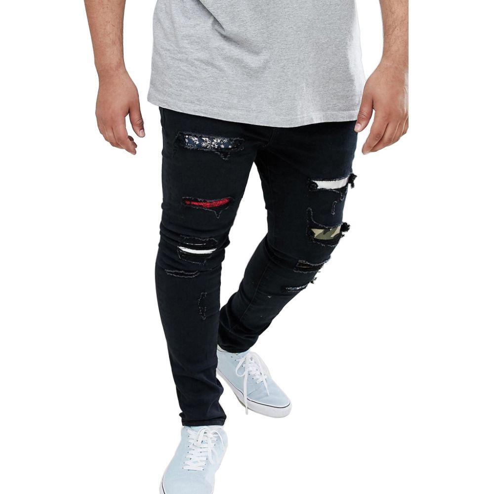 Compre Agujeros Para Hombre Ripped Slim Jeans Negro Moda Rapper Hiphop Skateboard Elastico Pantalones Jean Pantalones A 46 15 Del Xiamendhwholesale Dhgate Com