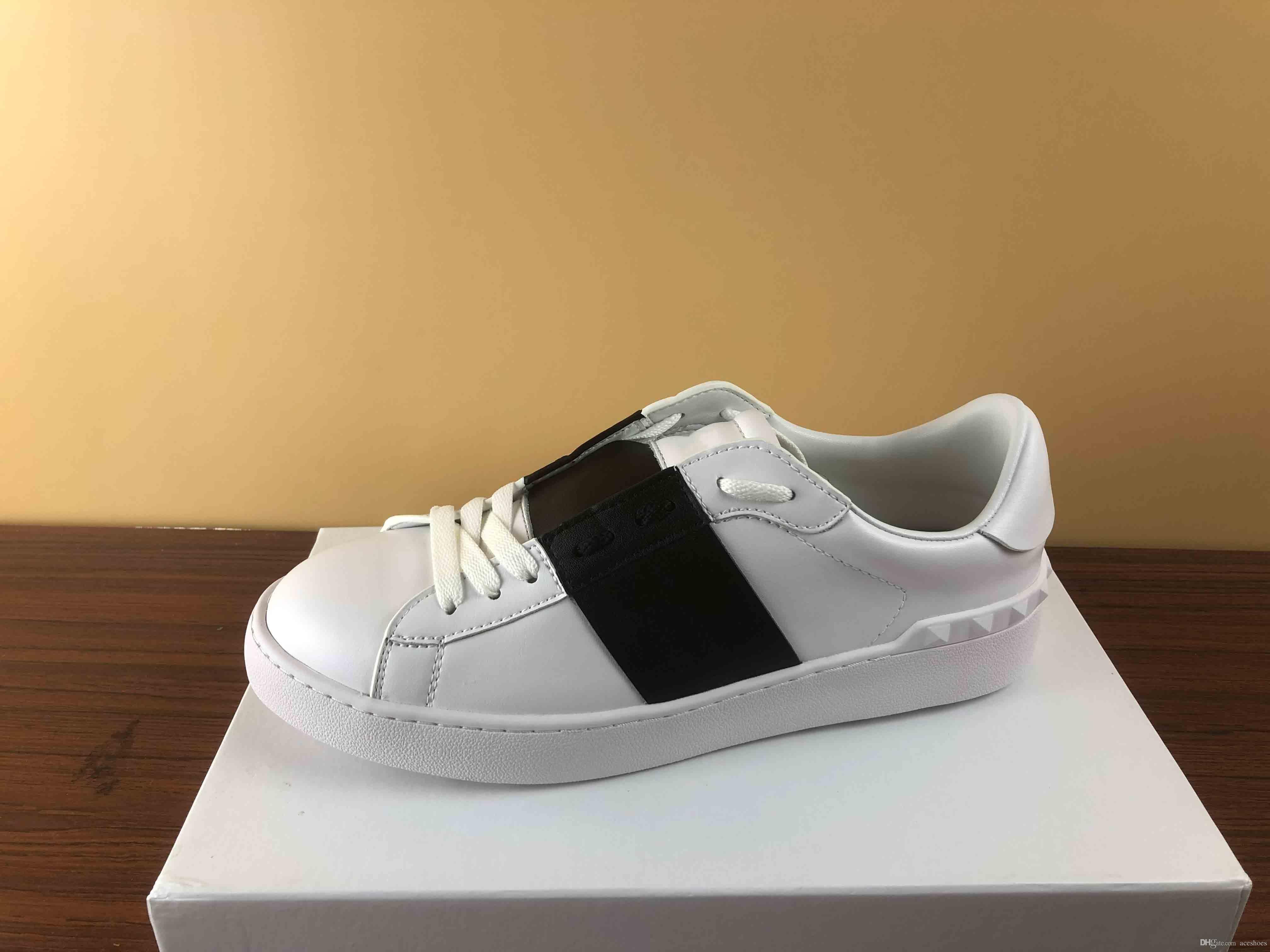 Qualité Des Décontractées Chaussures Mode Luxe Supérieure Pas Avec Hommes Femmes Sneakers Ouvertes Designer De Cher hrdQsCt