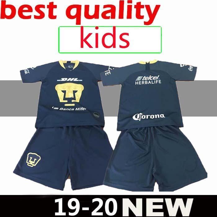 beccb985d3 2019 KIDS Kit 2018 MEXICO LIGA MX UNAM America Club Universidad Van Rankin  Soccer Jerseys 2018 Castillo Cougar SOSA 18 19 Boys Football Shirts From ...