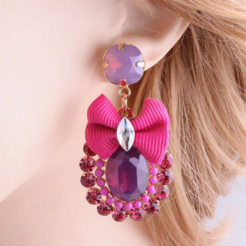NeeFu WoFu Drop Rhinestone Tie Big Earring Dangle Zinc Alloy Large Long  Brinco Printing Ear Accessories Oorbellen Wholesale Drop Earrings Cheap Drop  ... 8cf0f9a30598
