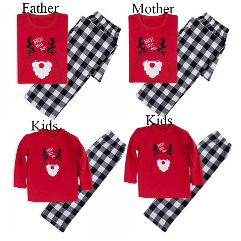 Natale Famiglia Indumenti XMAS Famiglia Pajamas Set cotone donne Mens partito dei capretti degli indumenti da notte costume regali a casa usura