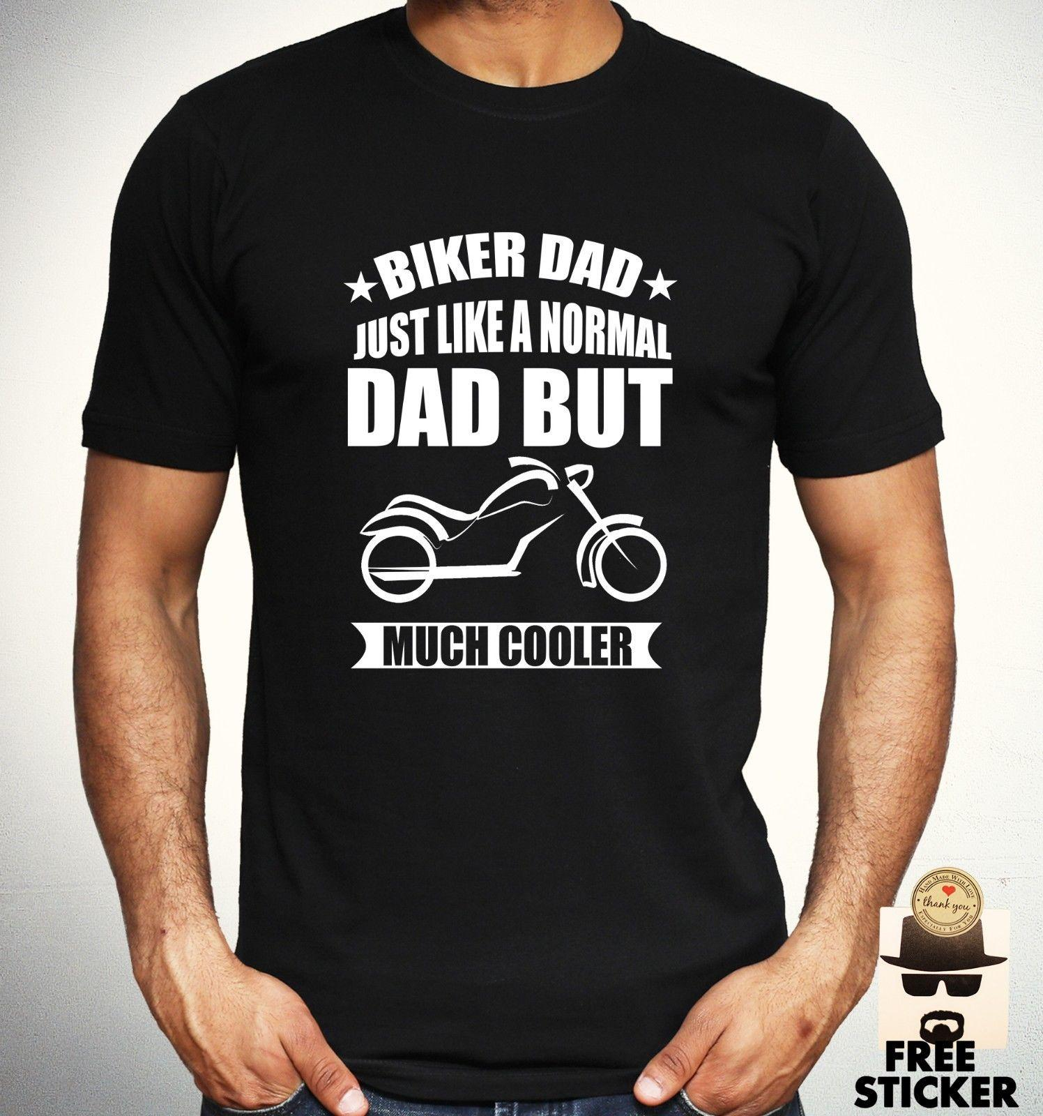Biker Dad T Shirt Motorcycle Cool Father Birthday Present Gift Top Mens Buy Fun From Printforless51 1158
