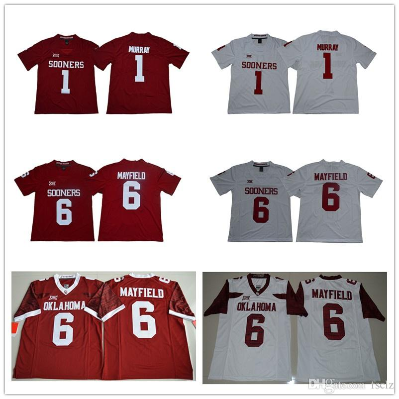 2019 Mens Kyler Murray Football Jersey Oklahoma Sooners Baker Mayfield High  Quality Stitched College American Football Jerseys From Fsclz 75ff88680