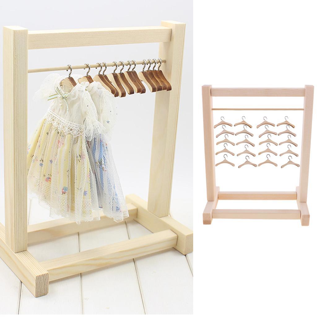 DIY Handarbeit Puppe Holz Kleiderständer Dekoration Spielzeug Neu Möbel Zubehör Puppen & Zubehör