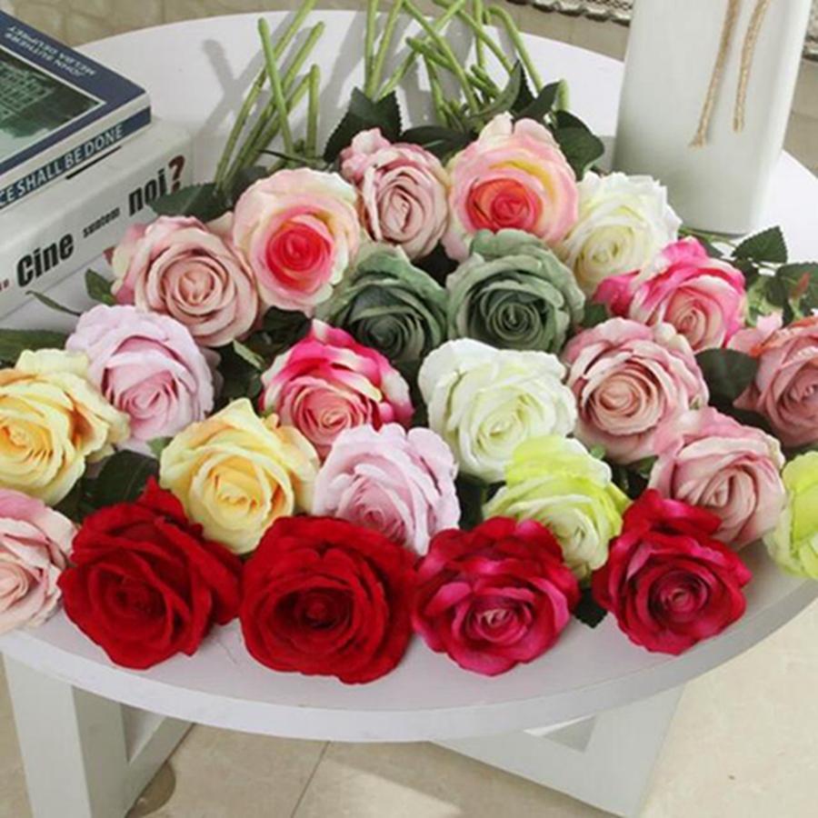 2019 Single Beautiful Rose Peony Artificial Silk Flowers Diy Bouquet