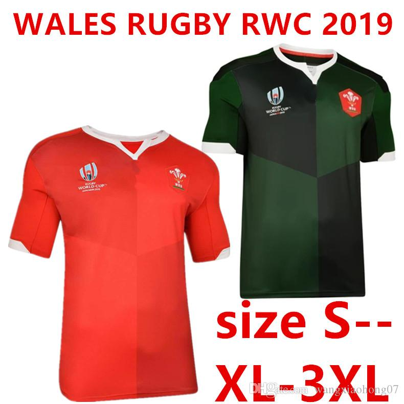 best website b22a4 026dc WALES HOME RUGBY WORLD CUP 2019 JERSEY Japan Samoa World Cup FIJI WALES  RUGBY RWC 2019 ALTERNATE SUPPORTER JERSEY Size S-XXXL (can print)