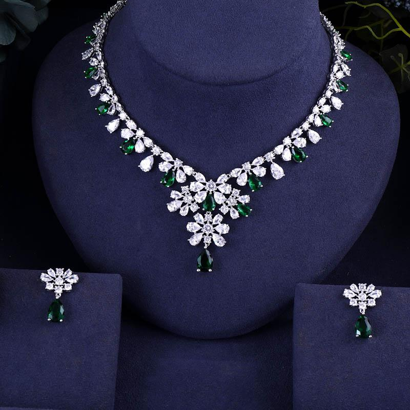Jankelly Hotsale African Bridal Jewelry Sets New Fashion Dubai Necklace Sets  For Women Wedding Party Accessories Design Designer Jewelry Mens Diamond ... 173e4602ea69