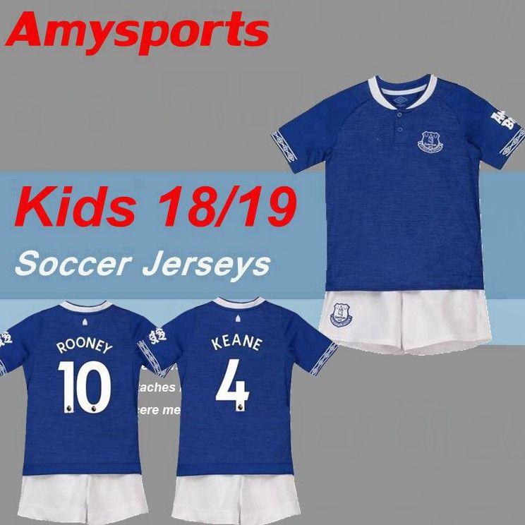 2018 2019 Kids Kit Everton Home Away Soccer Jersey 18 19 MINA ANDRE ... 3261a1992dd5e