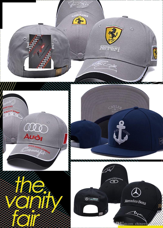 0ec6a1ec The Car Logo Embroidery Hats For Men Women Hip Hop Dance Hat Adjustable  Snapback Ball Cap Shade The Sunlight 5gl Z Custom Caps Cool Caps From ...