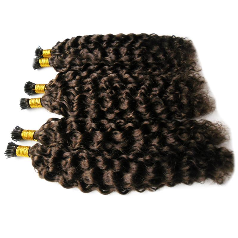 "300S mongolian afro kinky curly Remy I Tip 100% Human Hair Extension 16"" 20"" 24""1g/s Keratin Hair Extension I-tip Human Hair"