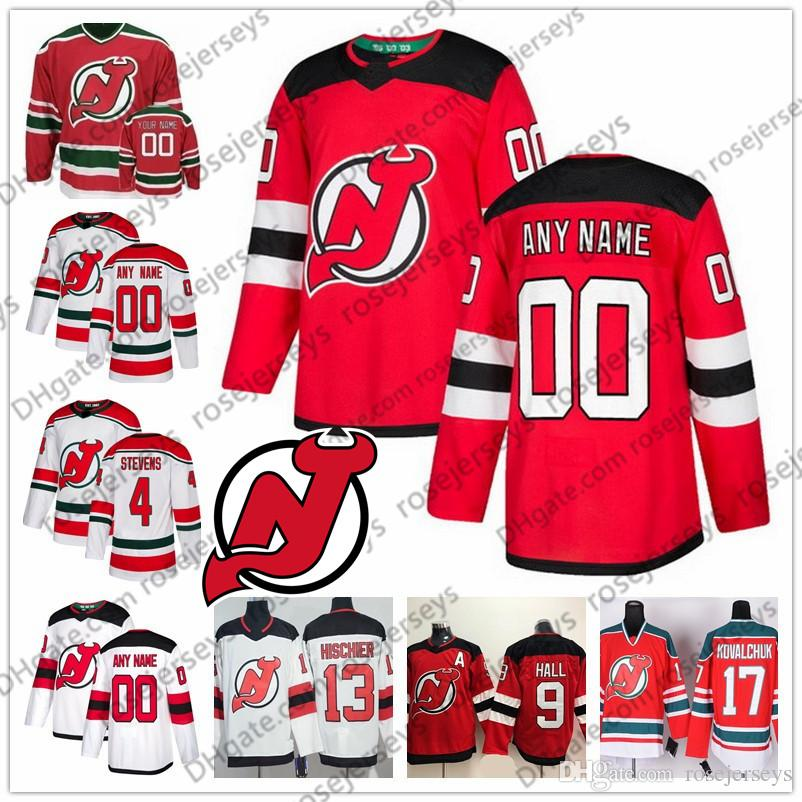 Custom New Jersey Devils 2019 White Green Third Jerseys Any Number ... 1cb46bad5