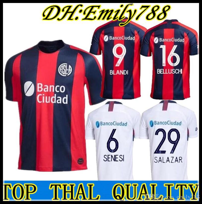 40f04c86e 19 20 San Lorenzo De Almagro Camiseta De Fútbol Local 2019 2020 Argentina  Camiseta De Fútbol De Visitante De San Lorenzo CAUTERUCCIO BLANCO Por  Emily788