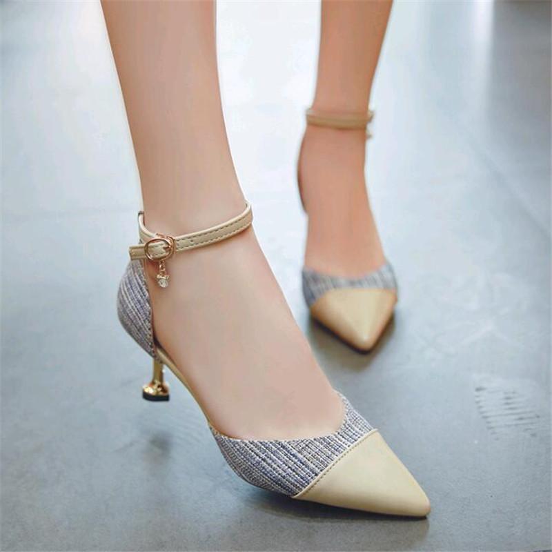 8d8fa100ea5 Designer Dress Shoes 2019 New Side Air Women's High Heels Pointed Stiletto  Sexy Color Matching Hollow Women's Single