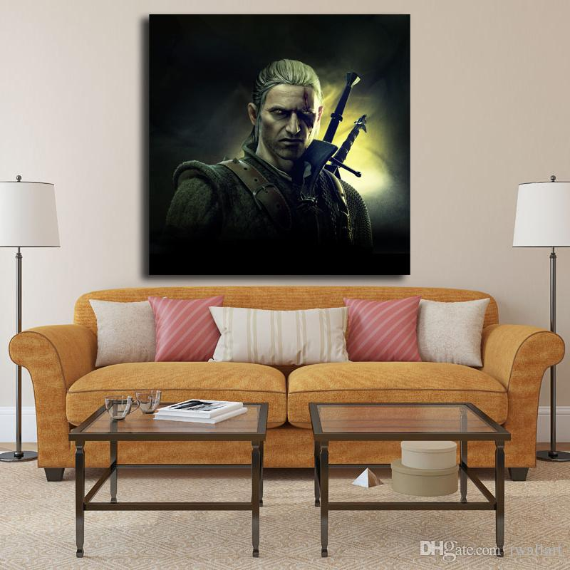 The Witcher 2 Assassins Of Kings Geralt Of Rivia Canvas Art Oil Printing Poster HD Picture Decraotion Print Living Room Home Decor